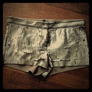 Express sequin shorts